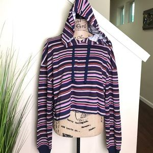 nwt wild fable cropped hoodie, striped